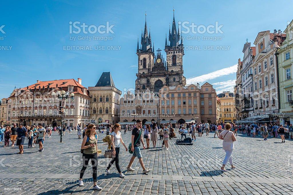 Old Town Square, Prague stock photo