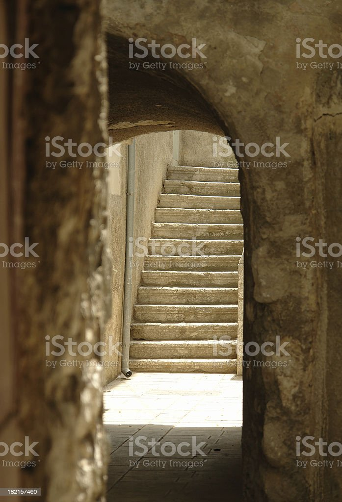Old town stairs royalty-free stock photo