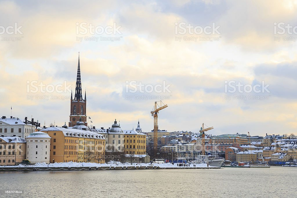 Old Town Stockholm city Sweden royalty-free stock photo