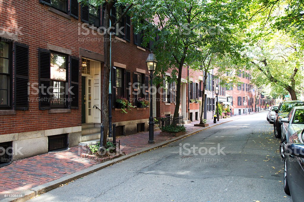 Old Town Street, Boston stock photo