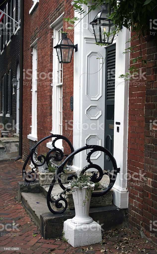 Old Town Street stock photo