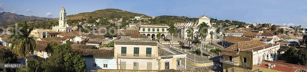Old town Trinidad, Cuba,  Panorama royalty-free stock photo