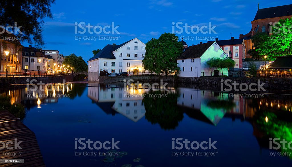 Old Town Uppsala Sweden stock photo