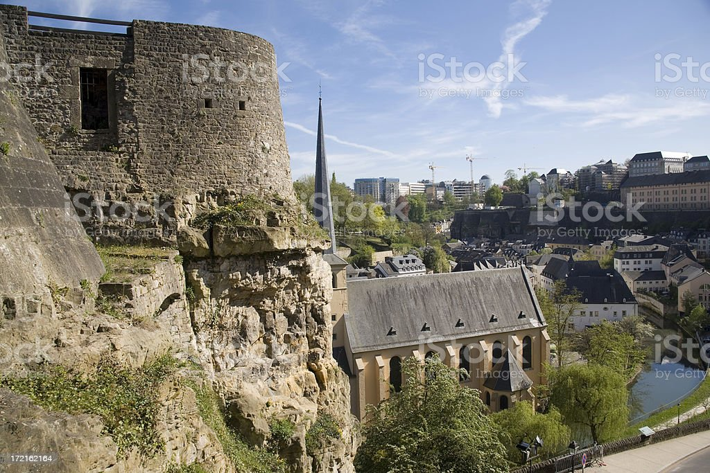 Old Town Wall Scenic View stock photo