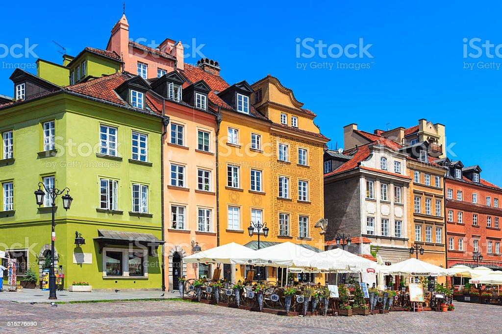 Old Town Warsaw Poland stock photo