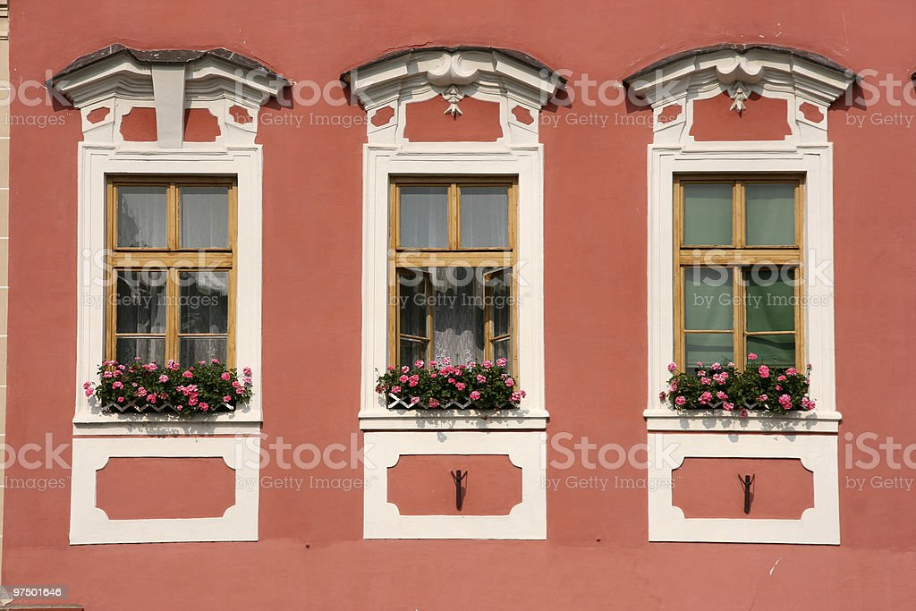 Old town windows royalty-free stock photo