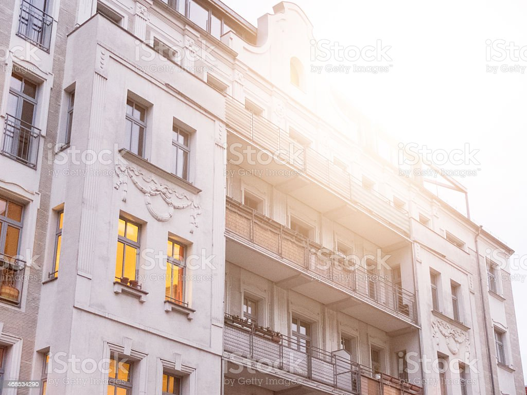 old townhouse at berlin stock photo