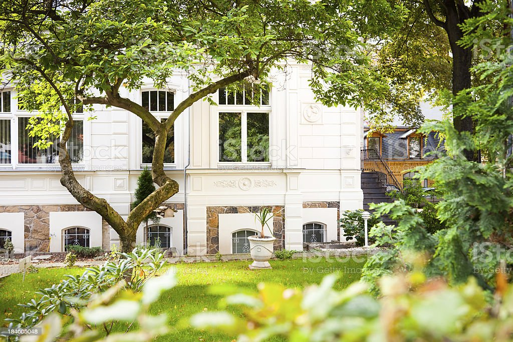 Old Townhouse with Garden stock photo