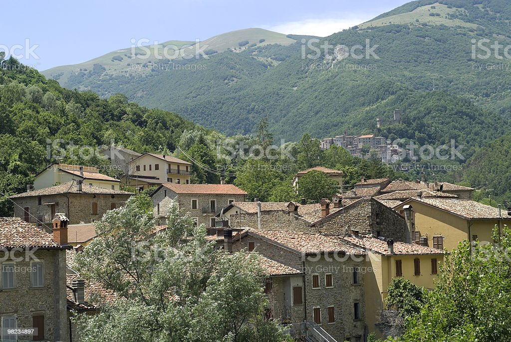 Old towns along the Salaria road, in Italy royalty-free stock photo