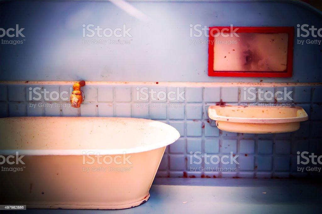 Old Toy Bathroom stock photo