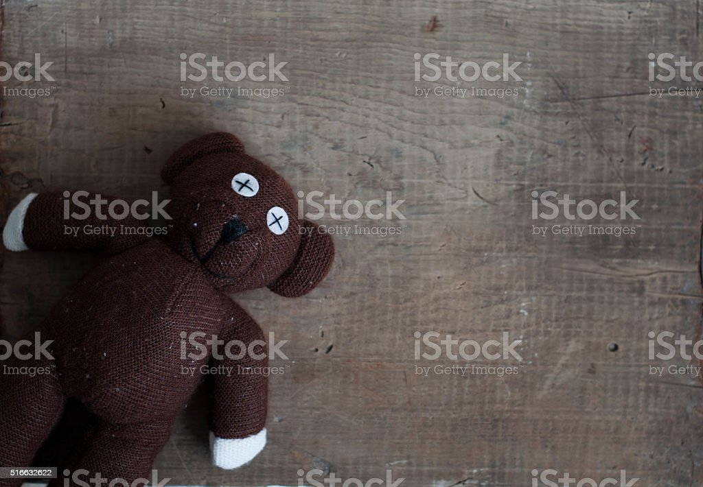 old toy bear stock photo