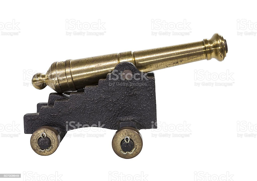 Old Toy Cannon stock photo