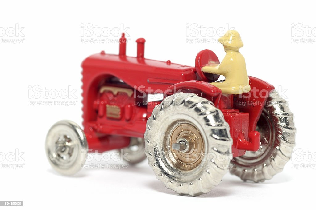 Old toy car Massey Harris Tractor royalty-free stock photo