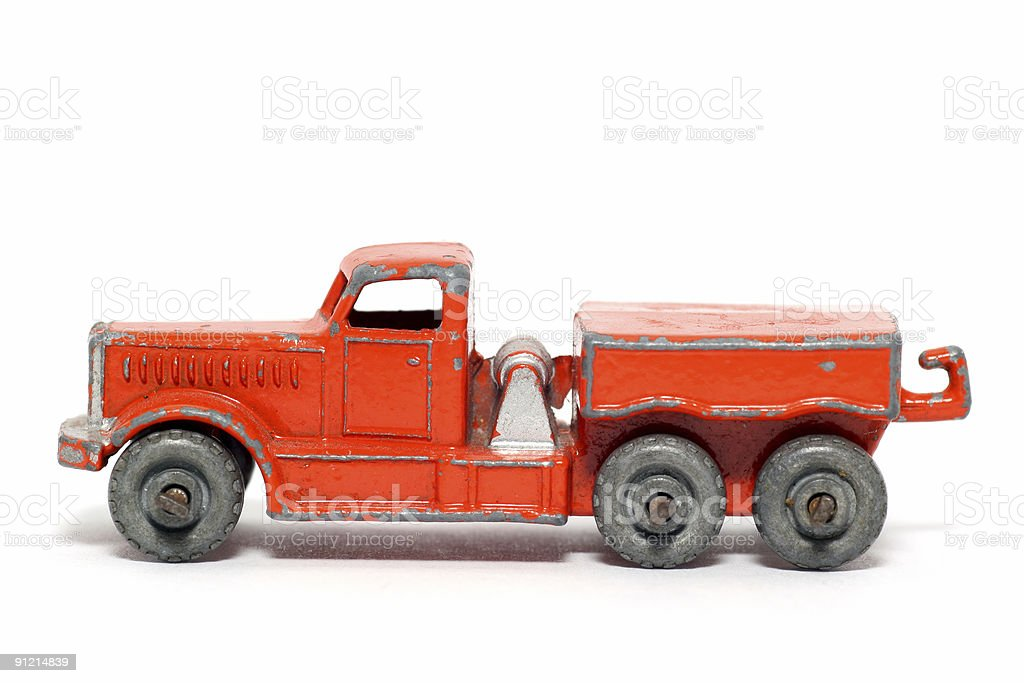 Old toy car Prime Mover stock photo