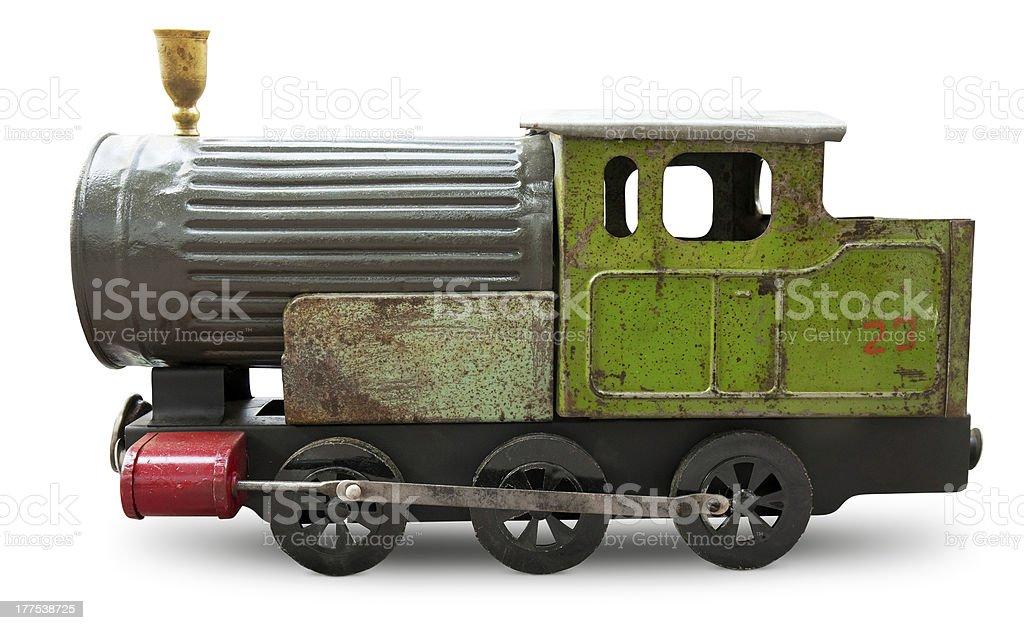 Old toy - locomotive. royalty-free stock photo