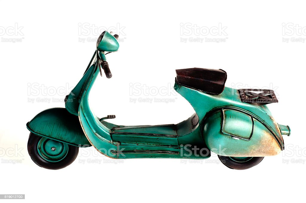 Old toy scooter stock photo