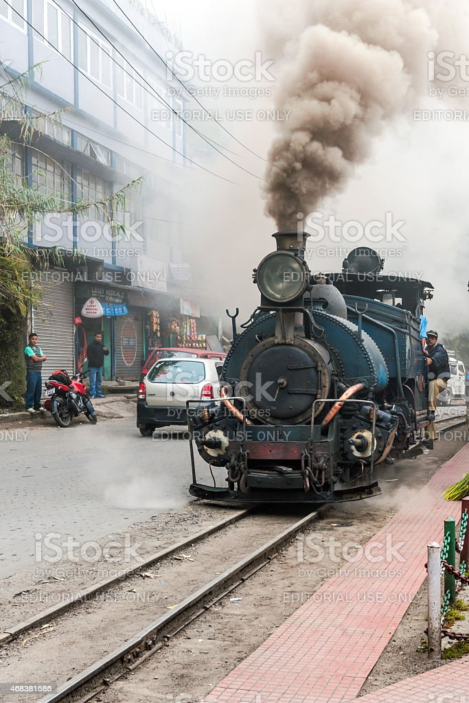 Old Toy Train Highest Railway Station of Ghum ,Darjeeling,  India stock photo