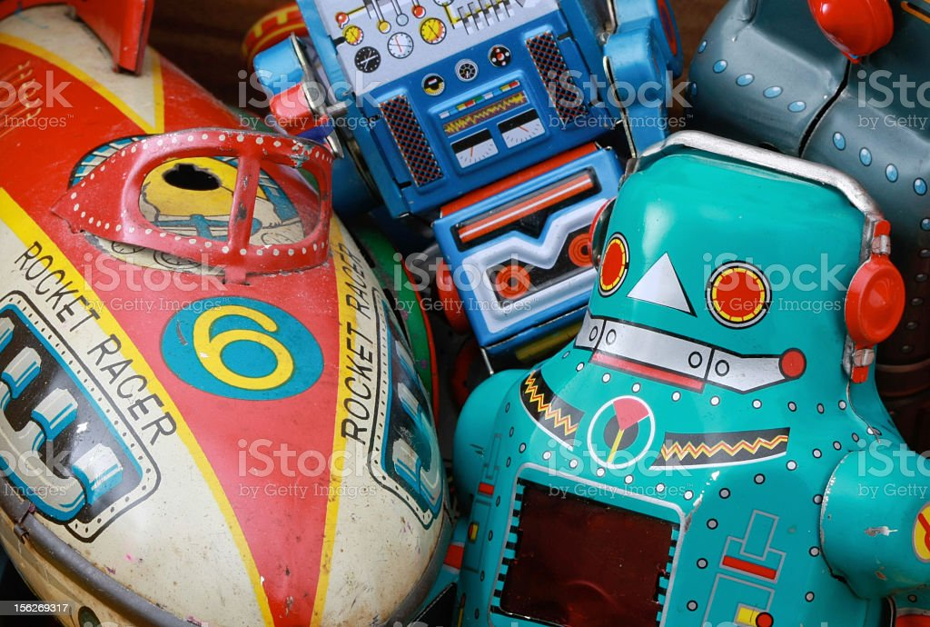 old toys stock photo