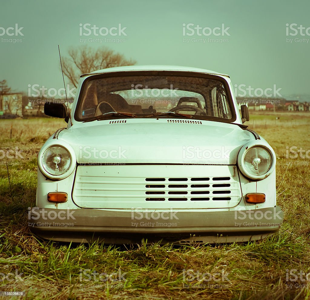 Old Trabant stock photo