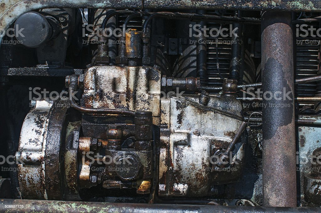 Old Tractor Engine royalty-free stock photo