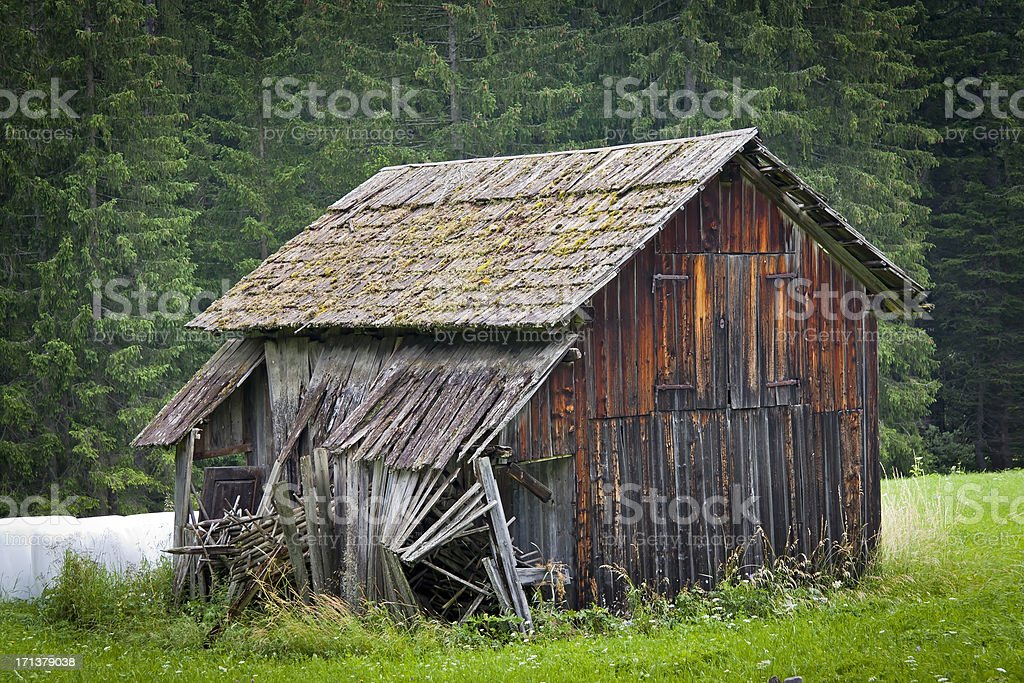 Old traditional barn stock photo