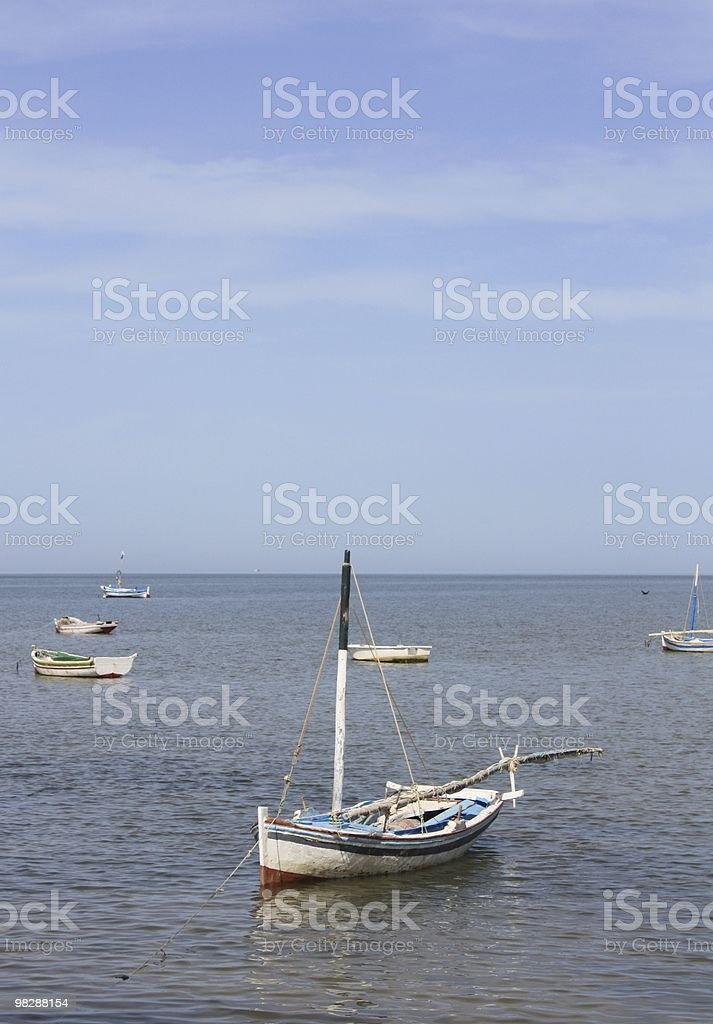 Old Traditional Dhow Boat stock photo
