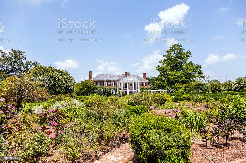 old traditional farmhouse in South Carolina stock photo