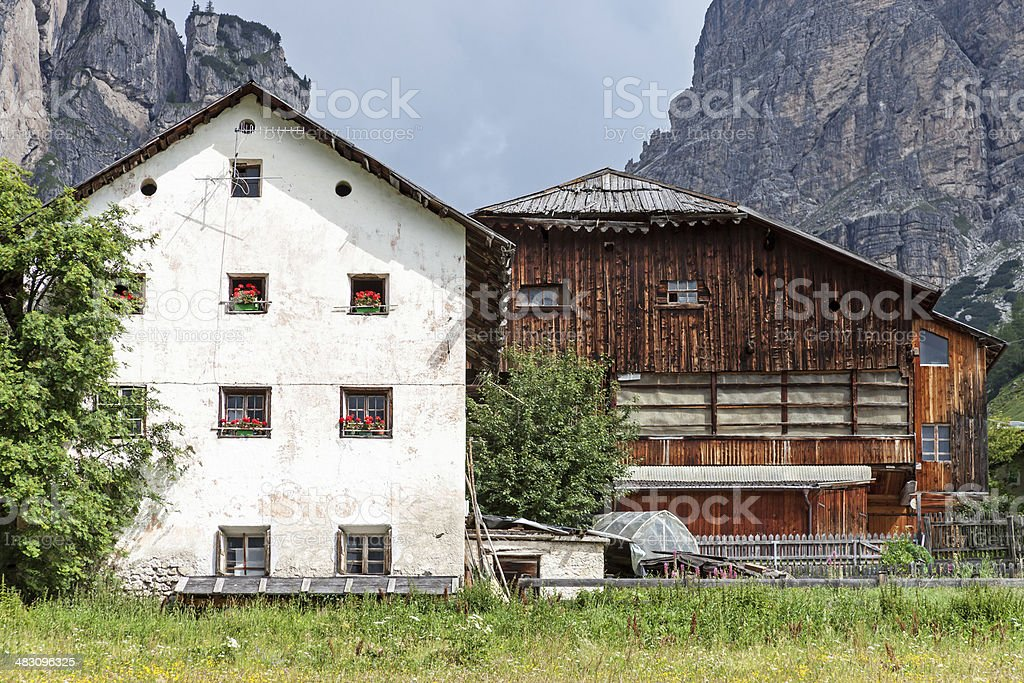 Old traditional hamlet stock photo