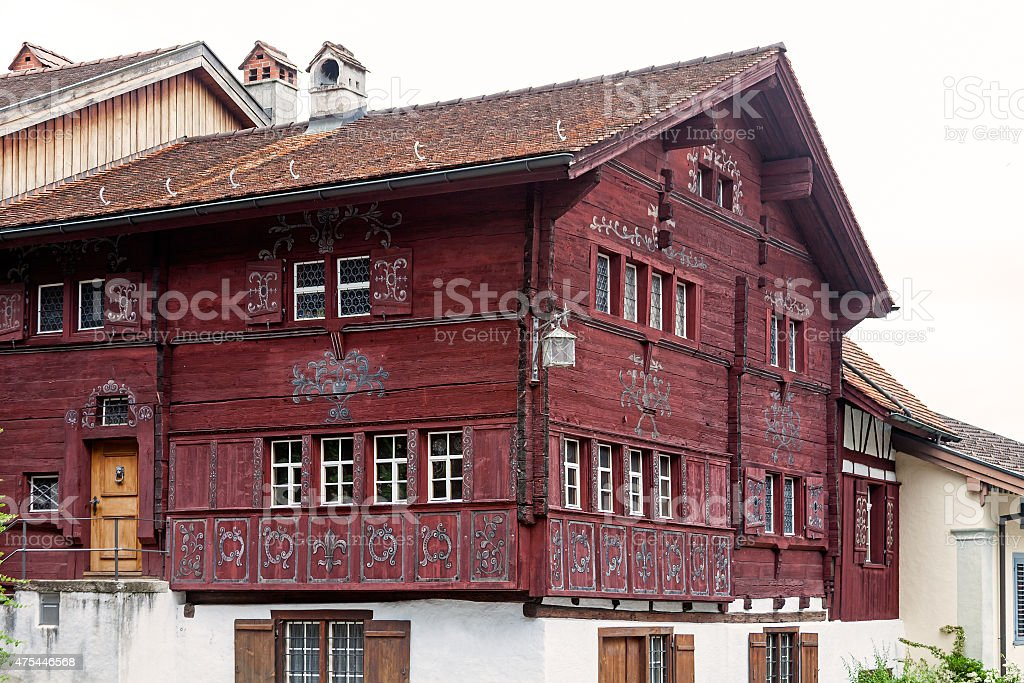 Old traditional house stock photo