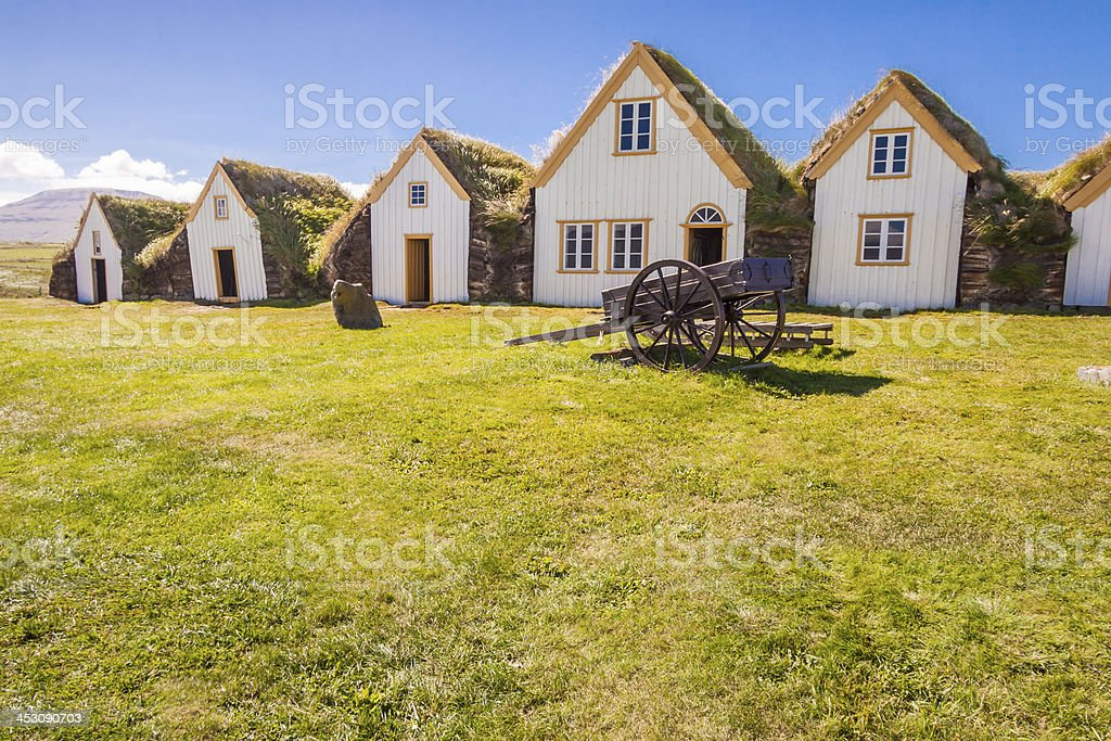 Old traditional Icelandic farm -  Glaumber stock photo
