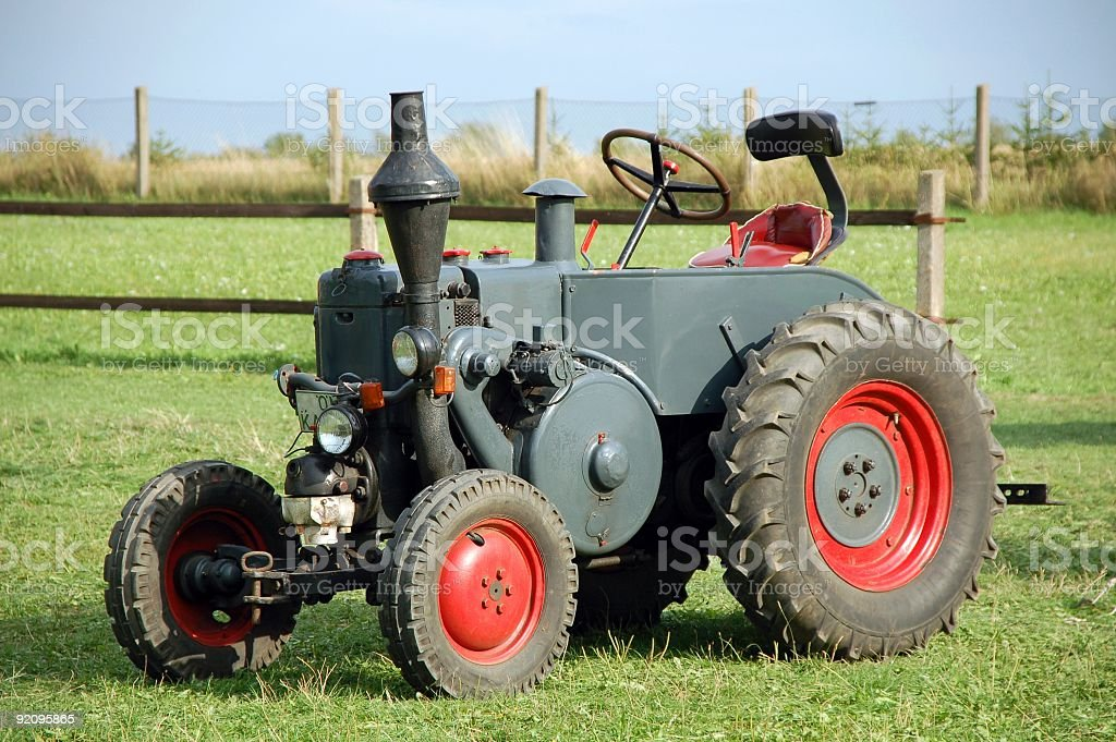 Old traditional tractor royalty-free stock photo