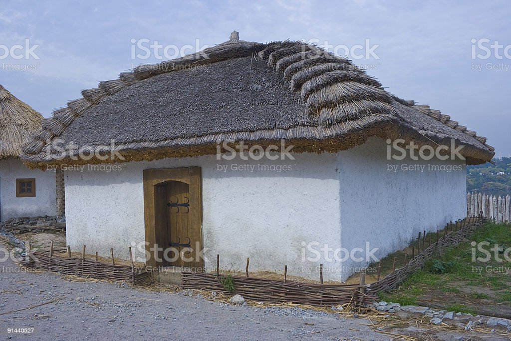 old traditional ukrainian house royalty-free stock photo