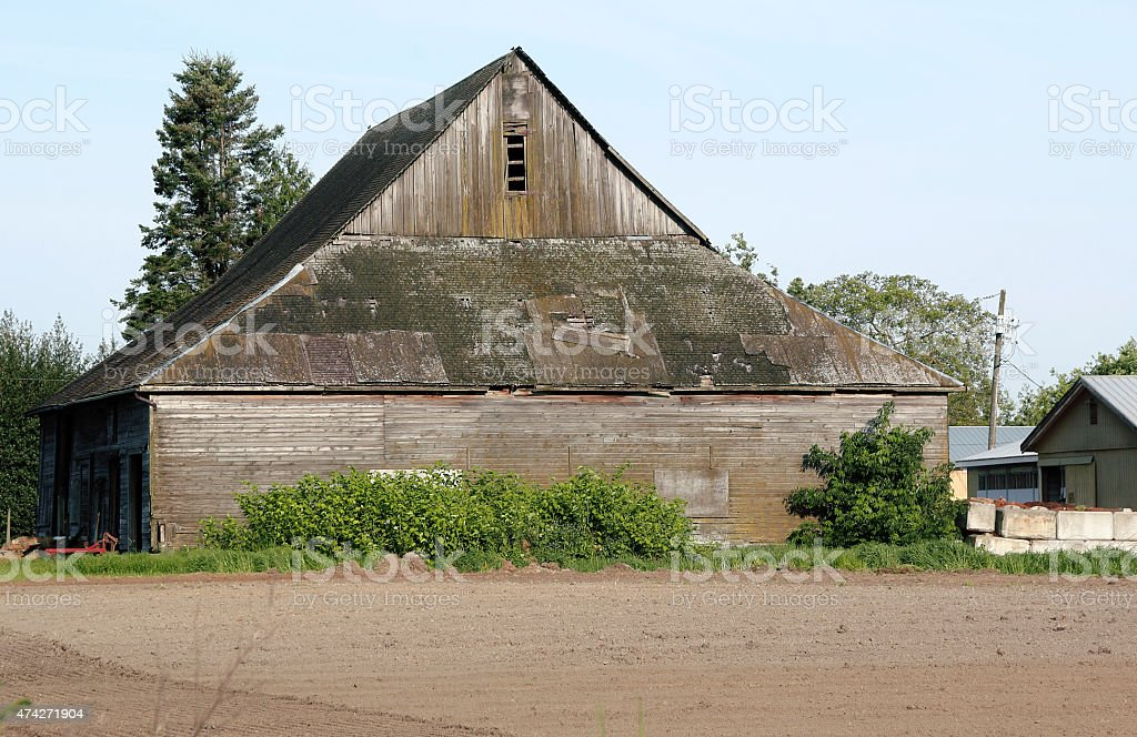 Old Traditional Weathered Barn stock photo