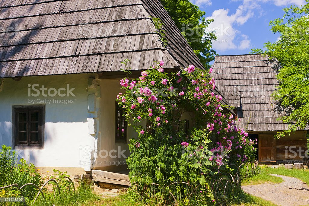 Old traditional wooden house royalty-free stock photo