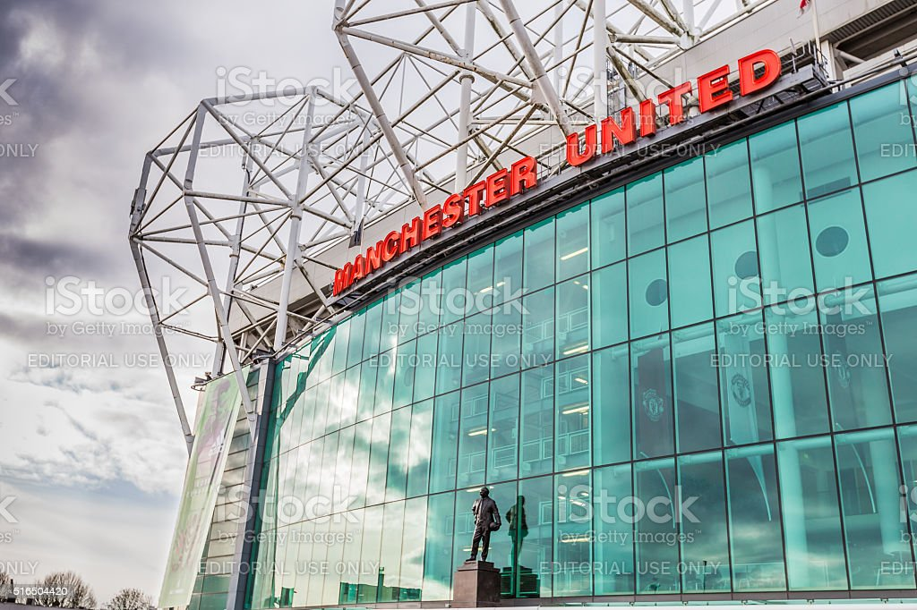Old Trafford football stadium stock photo