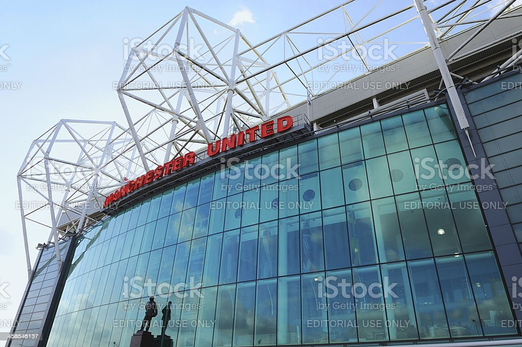Old Trafford - Manchester United stock photo