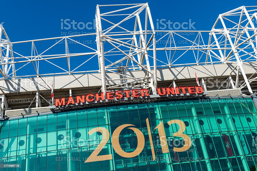 Old Trafford Stadium, Manchester United stock photo