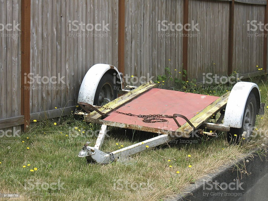 Old trailer / cart stock photo