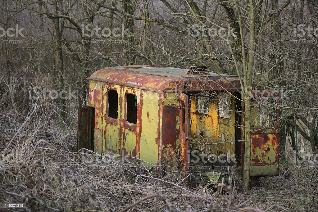 Old trailer royalty-free stock photo