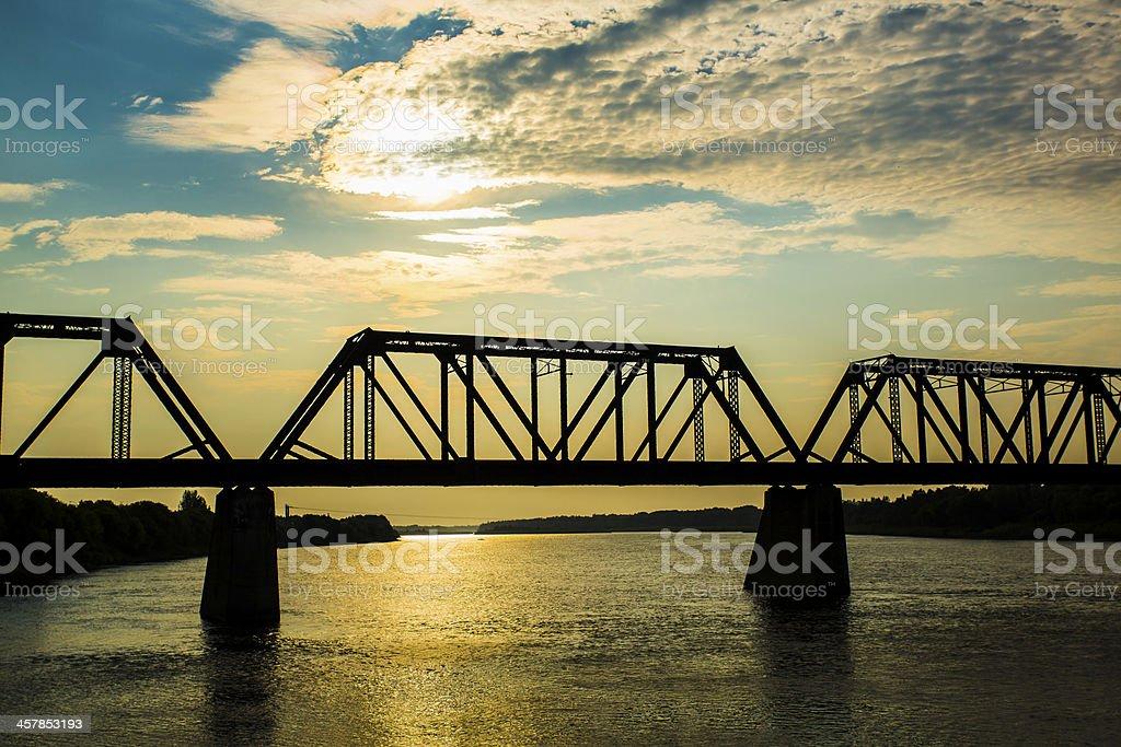 Old Train Bridge stock photo