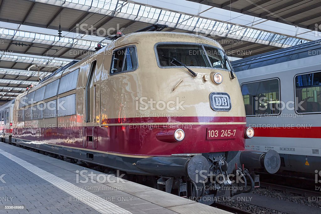Old Train from the Deutsche Bundesbahn stock photo