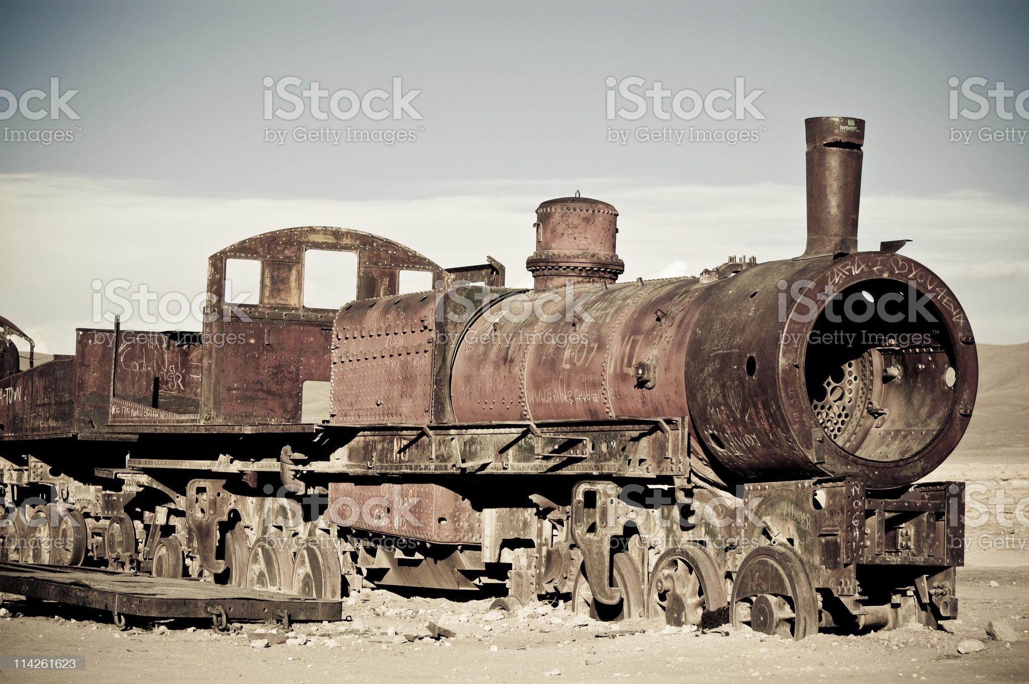 Old train of XIX century, Bolivia royalty-free stock photo