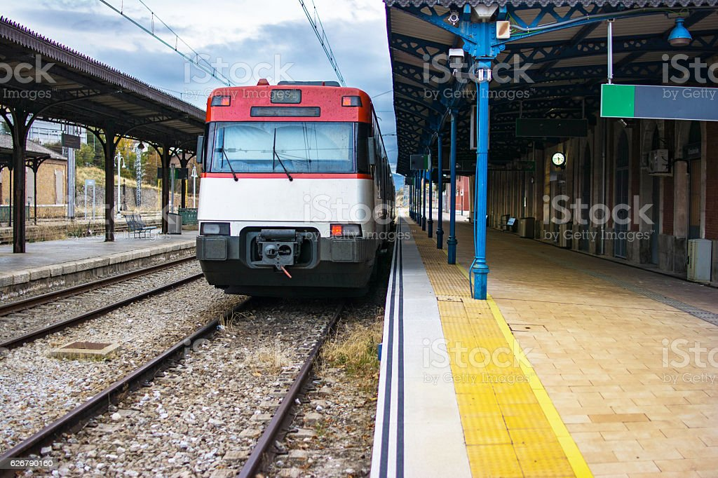 Old Train Station Segovia (Spain) stock photo