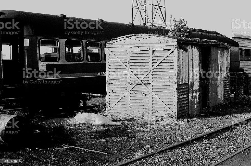 old train station yard royalty-free stock photo
