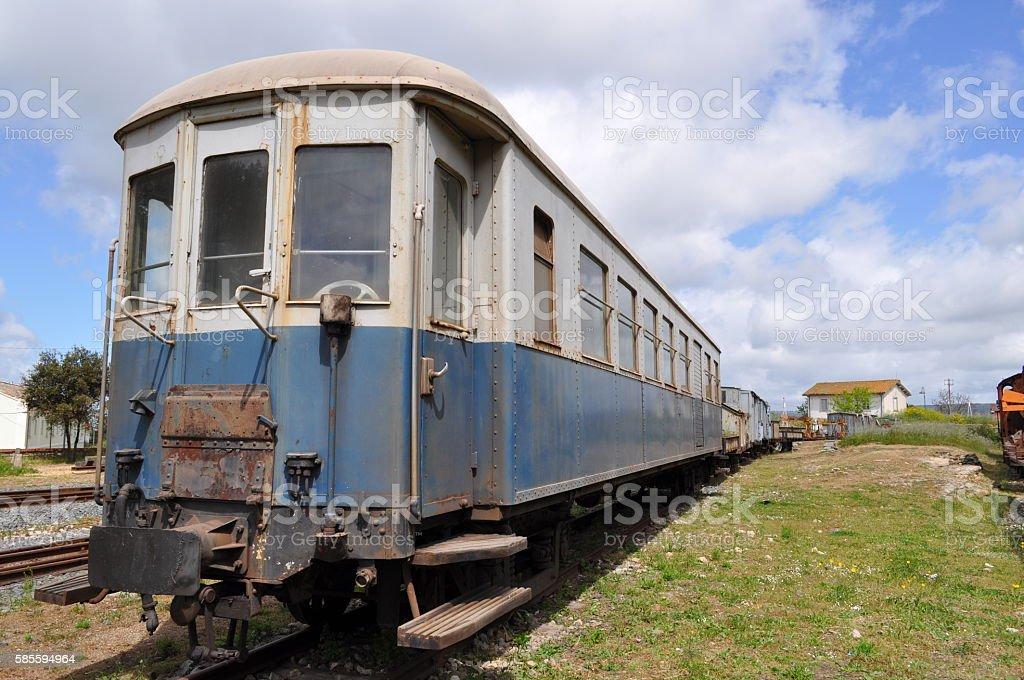 Old train, vecchio treno. royalty-free stock photo