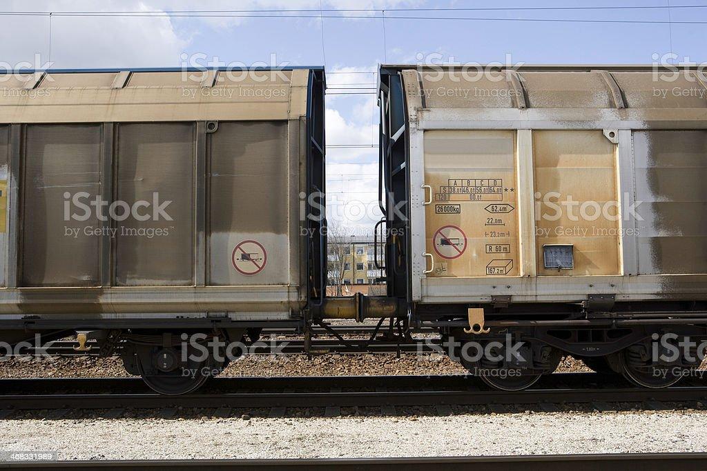 Old Train Wagons stock photo
