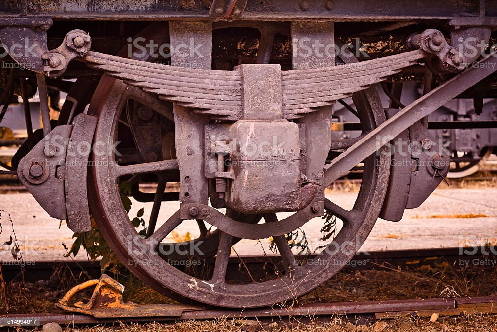 Old Train Wheel stock photo