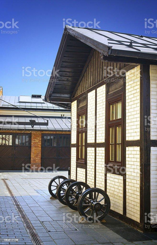 Old tram depot royalty-free stock photo