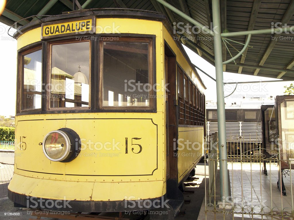 Old tram to Guadalupe royalty-free stock photo