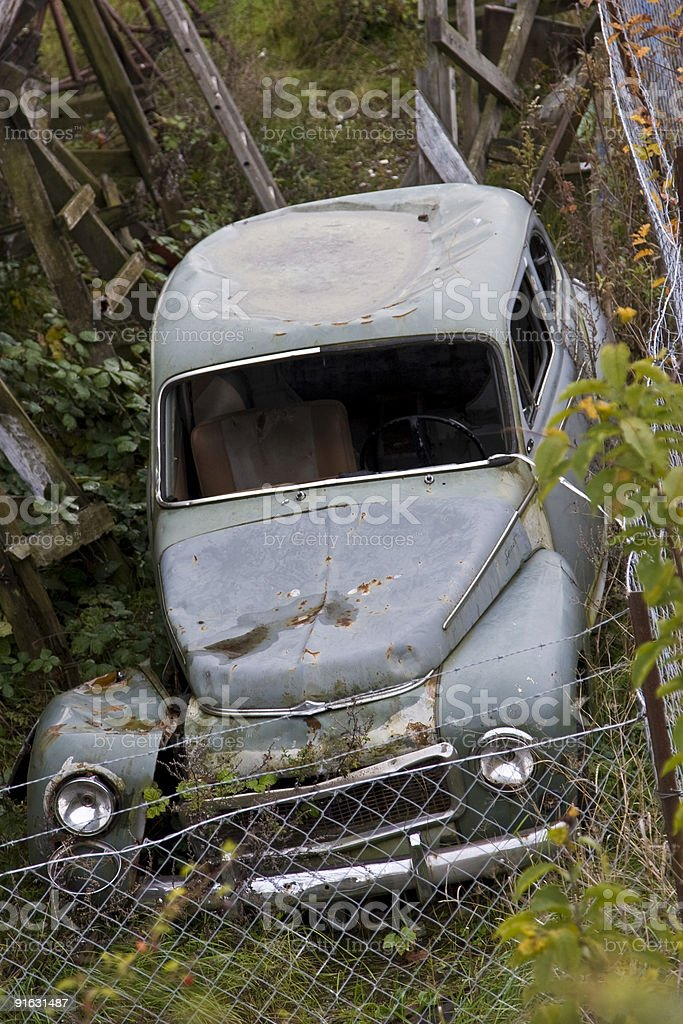 Old trashed car royalty-free stock photo